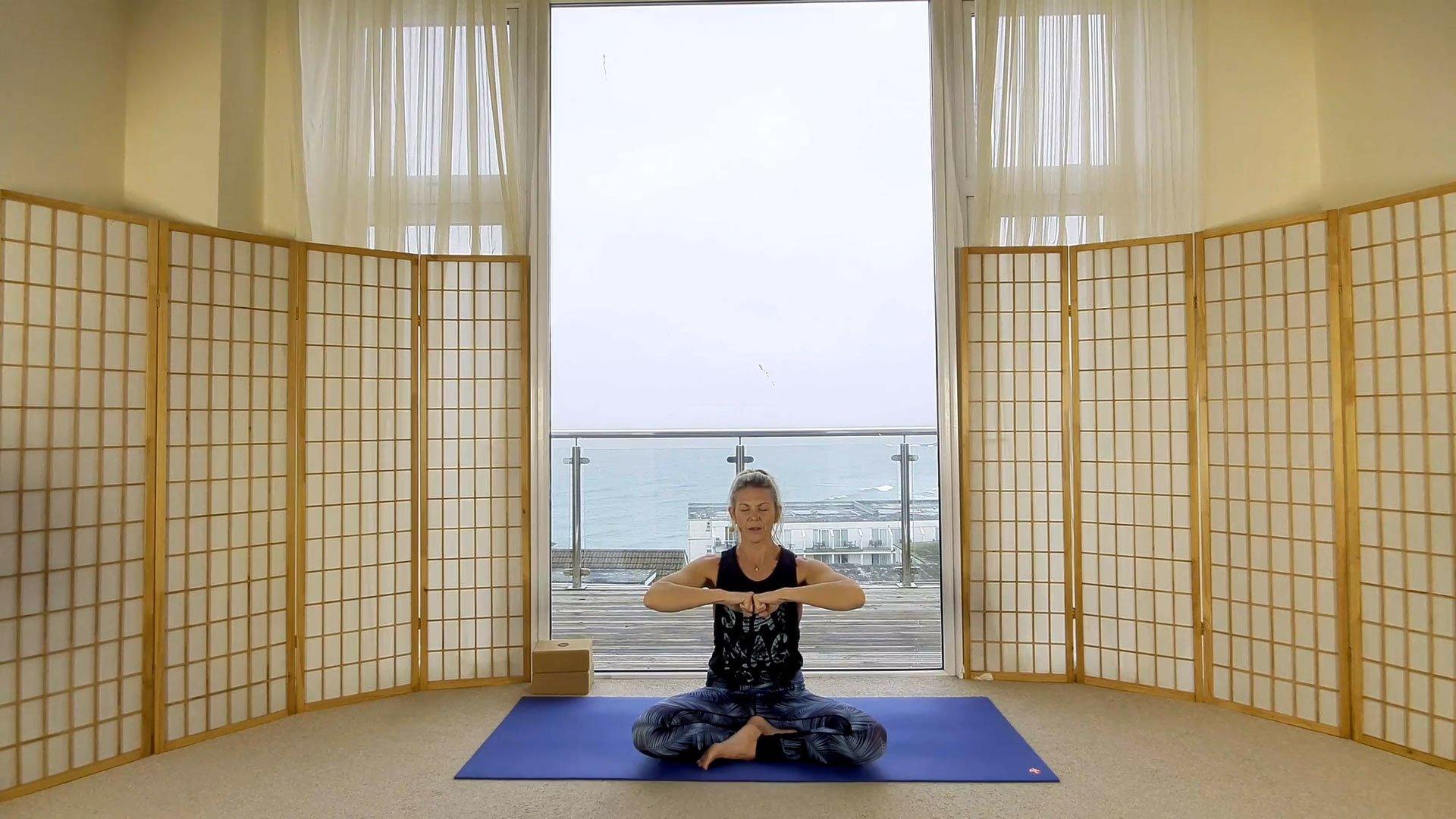 Energise yoga on demand online fist bumps