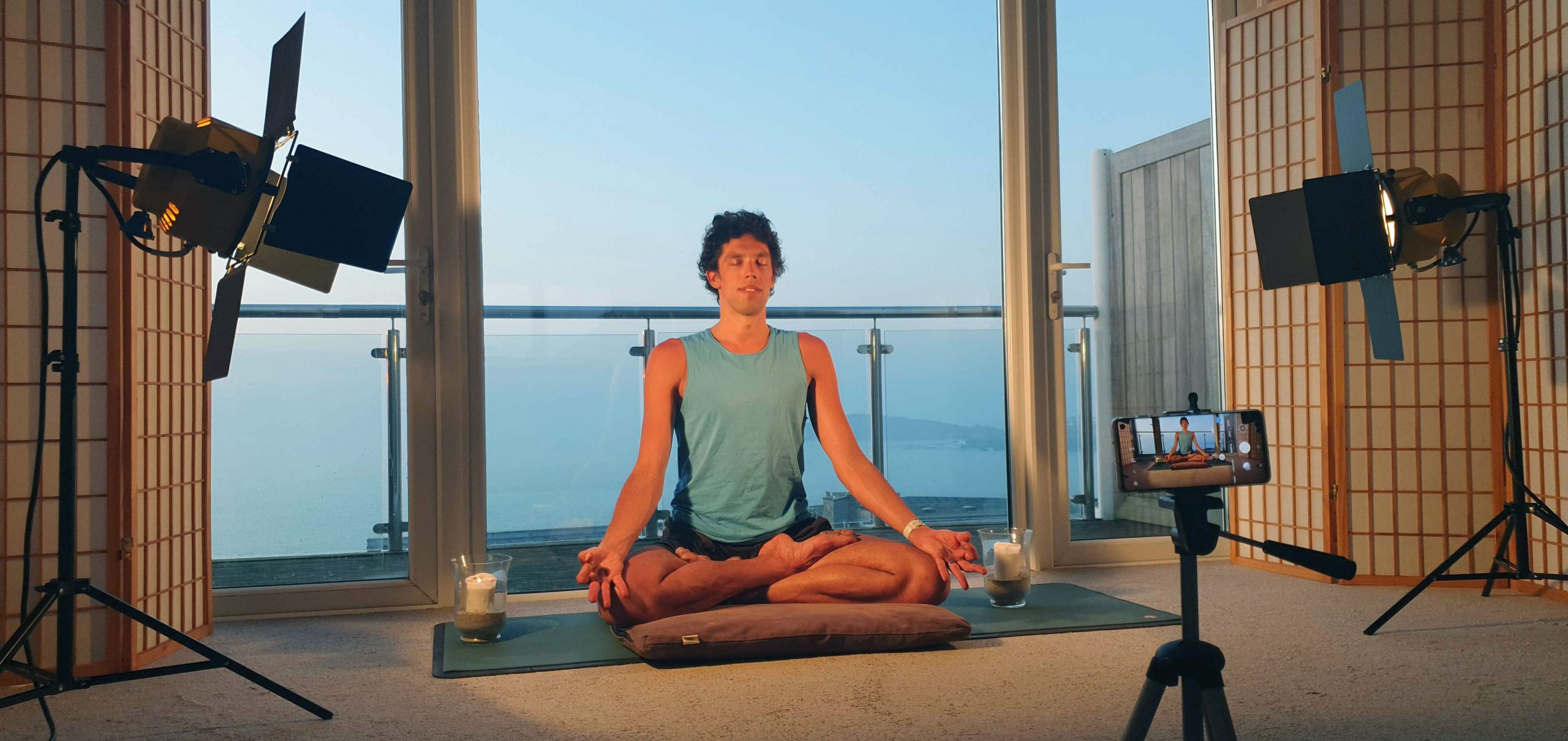 Oceanflow Anywhere on demand meditation beginners yoga courses