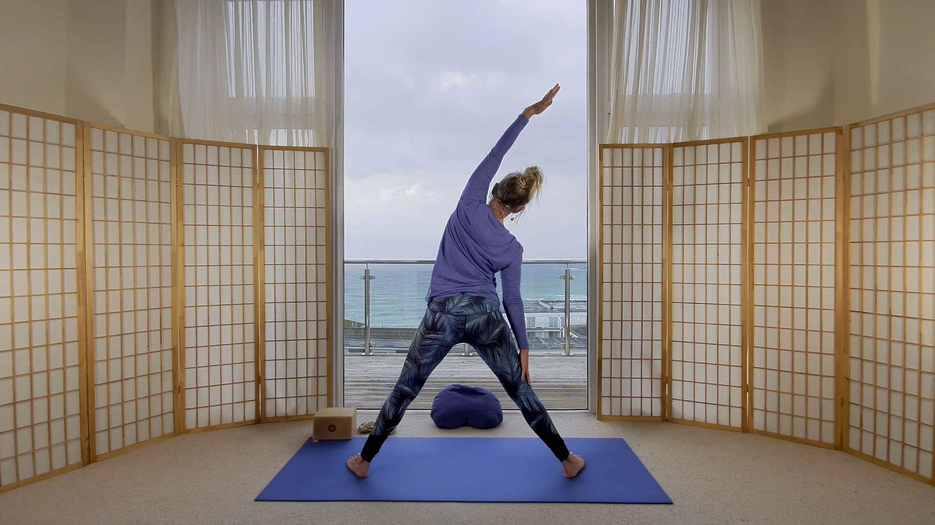 slow flow beginners yoga online on demand class get unstuck