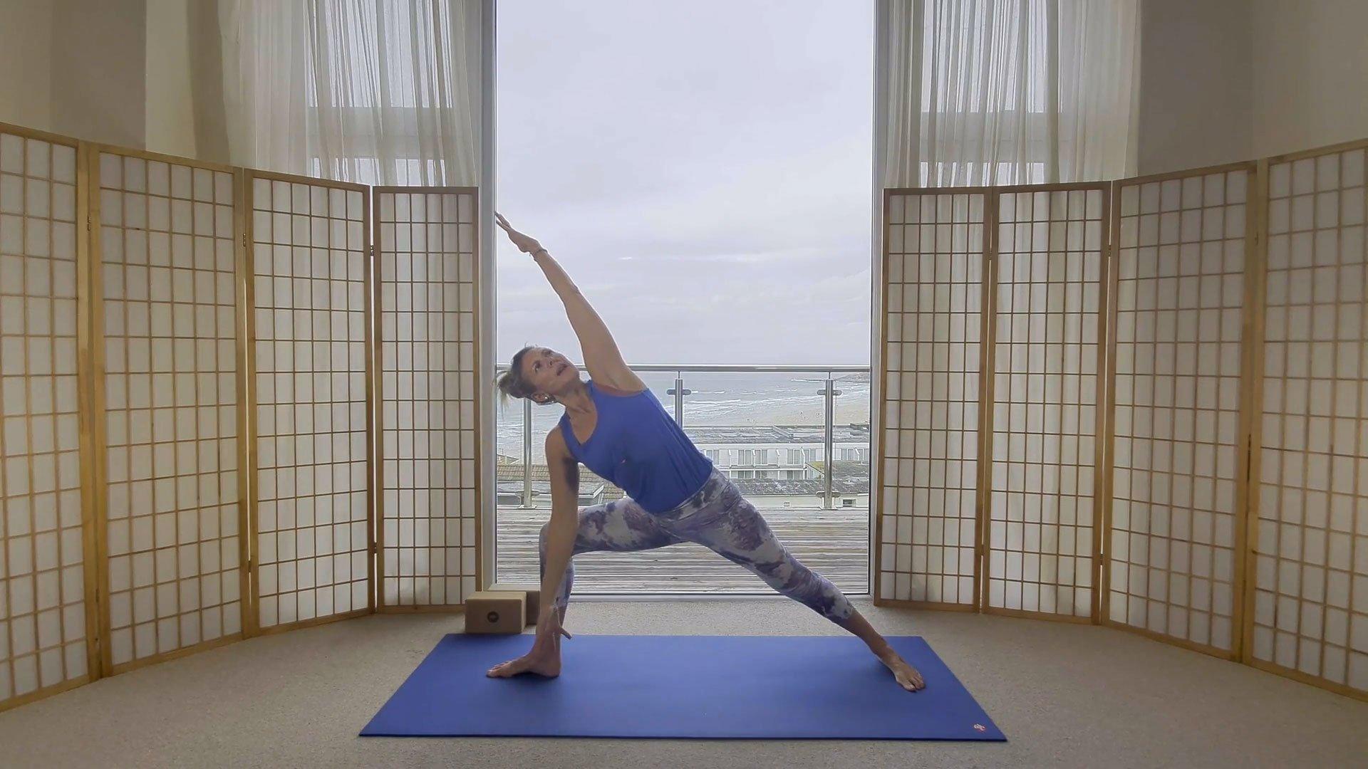 Sunrise yoga flow online on demand class sun celebrations