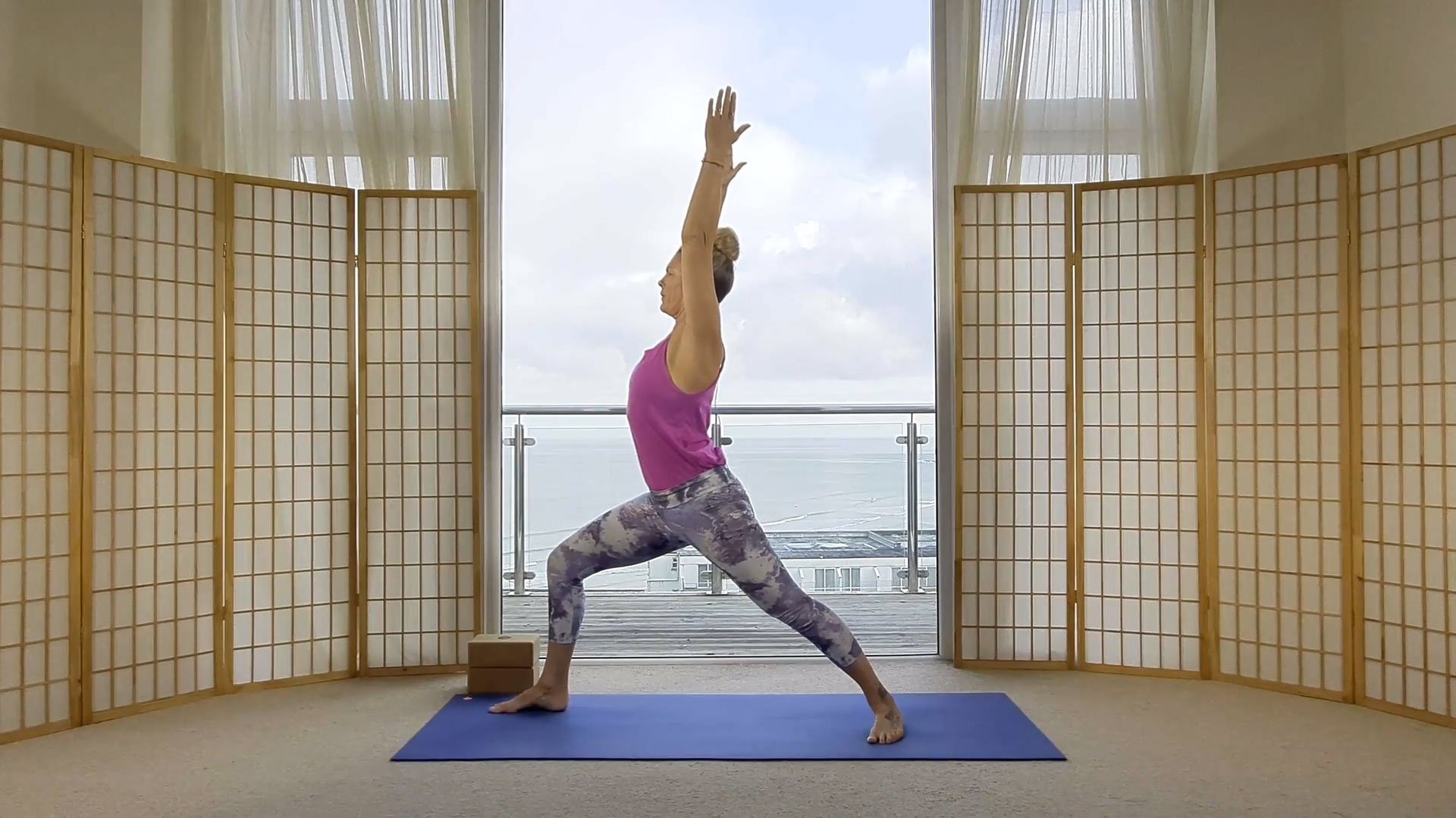 Sunrise yoga flow online on demand class waking up