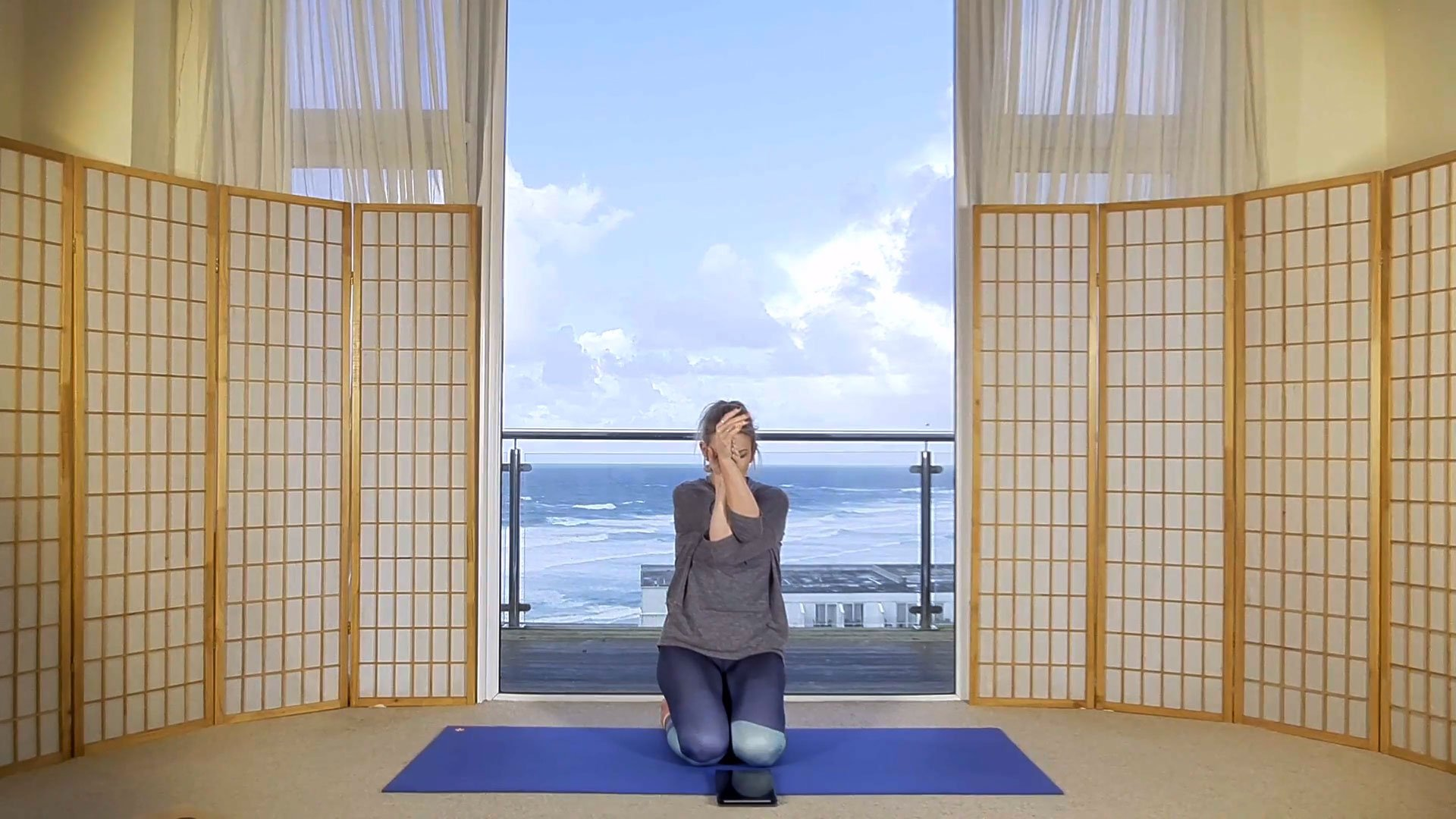 online yin yoga release neck and shoulder tension