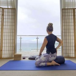 Yin yoga online on demand class shoulders and chest