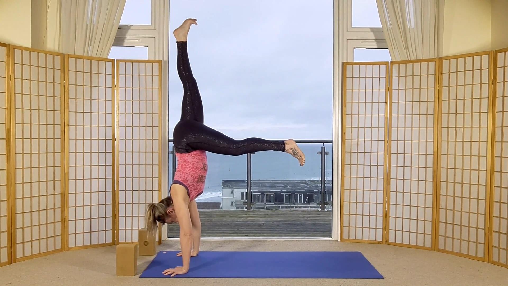 Oceanflow on demand online flow yoga inversions handstand workshop