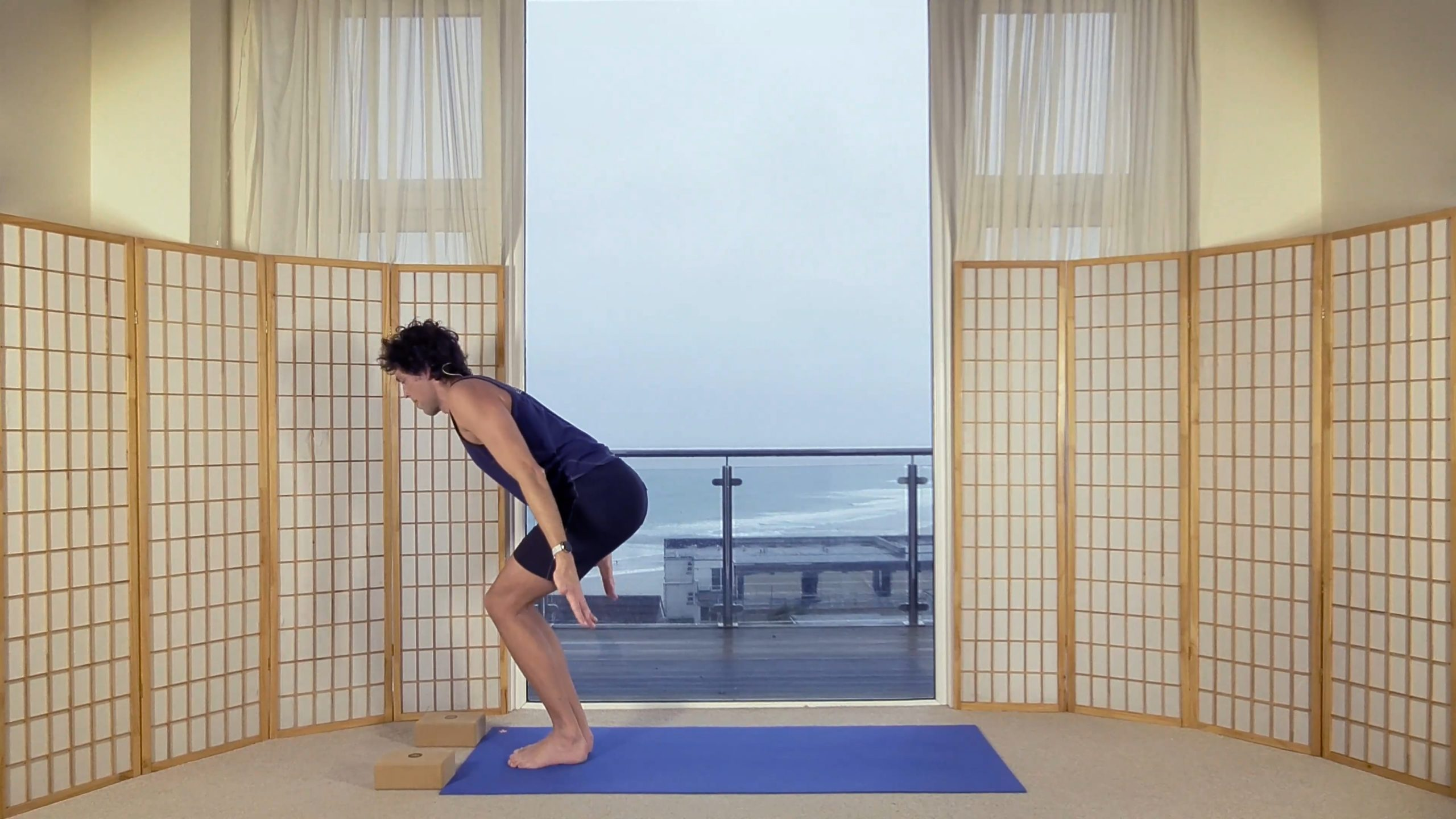 Foundation Beginner Yoga core butt Alignment Oceanflow online